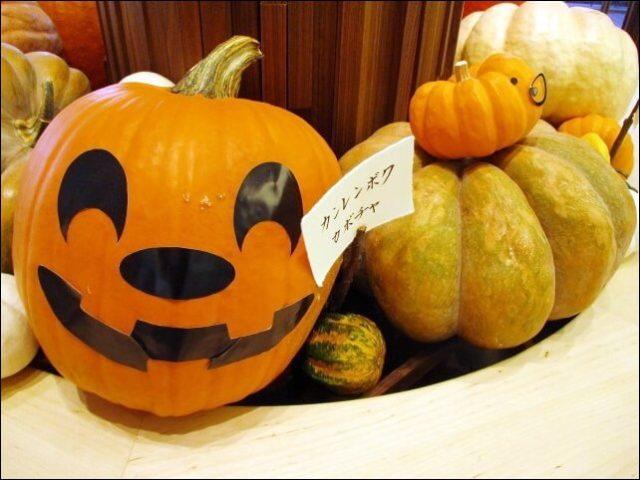 かぼちゃを使ったハロウィンの飾り付け