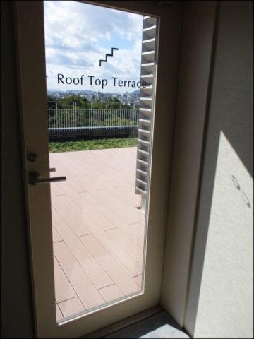 Roof Top Terraceの入り口