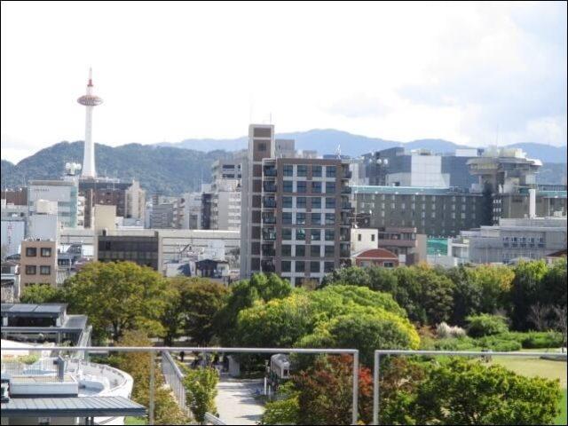 ポテルの屋上から見える京都タワー