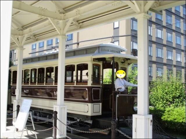梅小路公園を走る電車