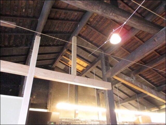 リノベーションした京町家の天井